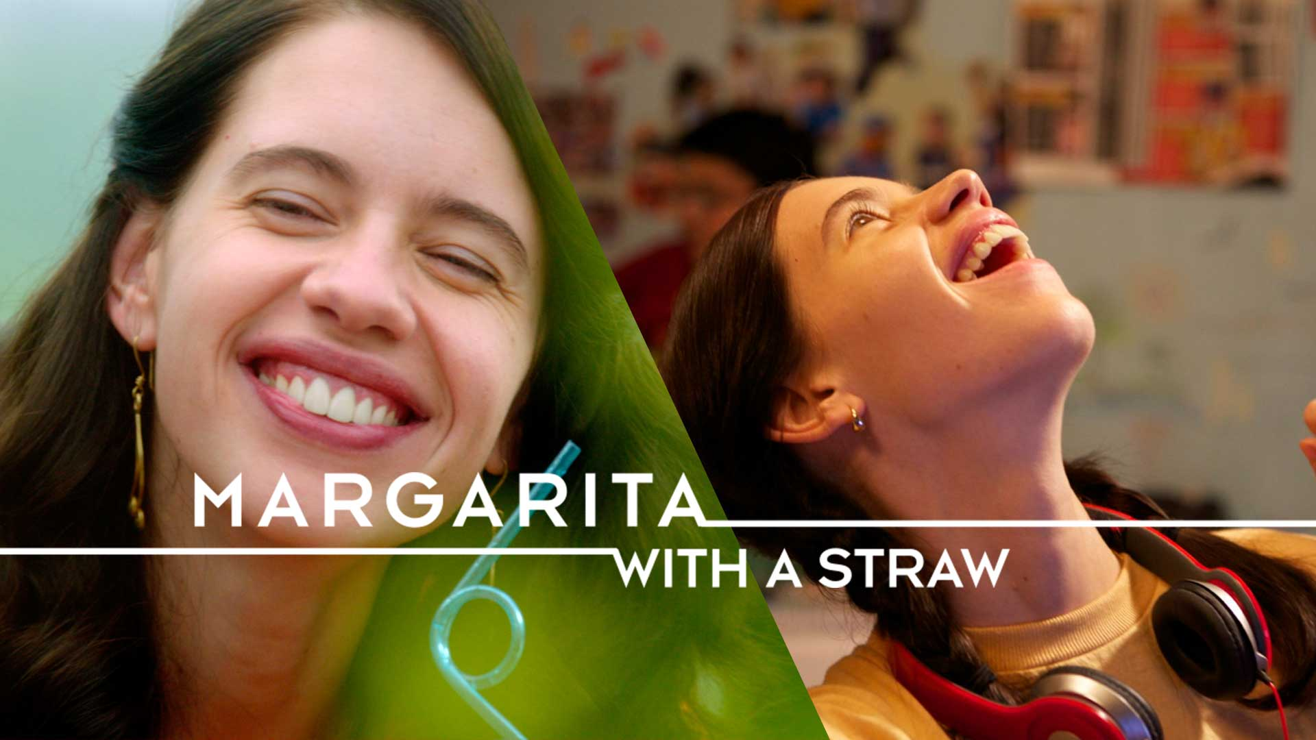Marguarita with a straw