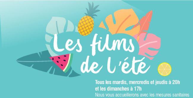 Les films de l'été – programme complet: attention changement d'horaire!
